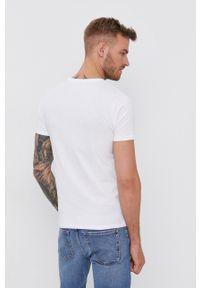 Diesel - T-shirt. Okazja: na co dzień. Kolor: biały. Materiał: dzianina. Wzór: gładki. Styl: casual