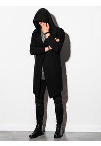 Ombre Clothing - Bluza męska z kapturem B961 - czarna - XXL. Typ kołnierza: kaptur. Kolor: czarny. Materiał: bawełna, dresówka, dzianina, poliester
