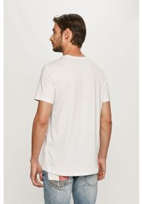 Biały t-shirt Trussardi Jeans casualowy, na co dzień, z nadrukiem