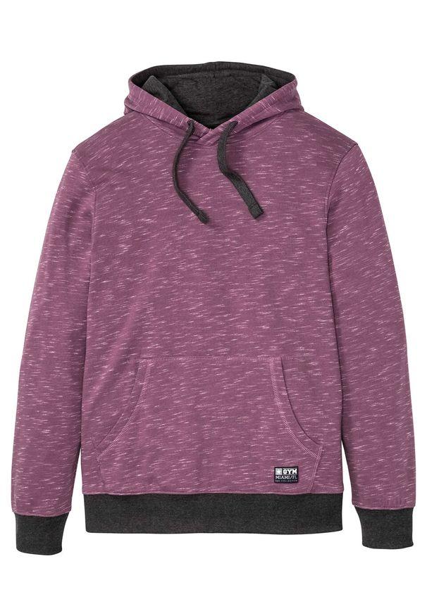 Różowa bluza bonprix melanż, z kapturem