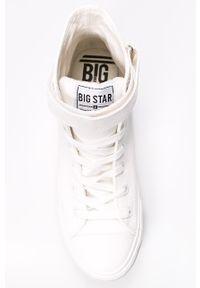 Białe wysokie trampki Big-Star z cholewką, z okrągłym noskiem