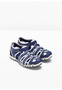 Niebieskie buty sportowe bonprix z paskami