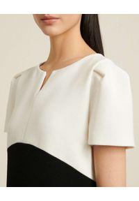 Luisa Spagnoli - LUISA SPAGNOLI - Czarno-biała sukienka mini Garanti. Kolor: czarny. Materiał: materiał. Długość: mini