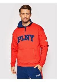PLNY Textylia Bluza Stanford 00002 Czerwony Regular Fit. Kolor: czerwony