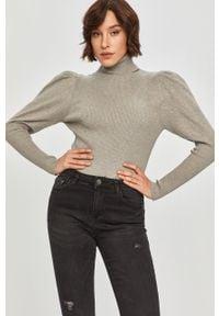 Szary sweter Answear Lab z golfem, długi, z długim rękawem, wakacyjny