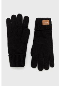 Pepe Jeans - Rękawiczki Alissa. Kolor: czarny. Materiał: dzianina. Wzór: gładki