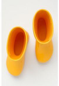 Żółte kalosze Birkenstock z cholewką, gładkie