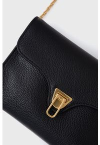 Coccinelle - Torebka skórzana Mini Bag. Kolor: czarny. Materiał: skórzane. Rodzaj torebki: na ramię