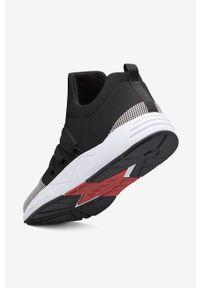 Czarne sneakersy ARKK Copenhagen na sznurówki, z okrągłym noskiem