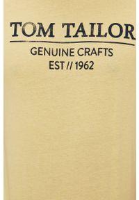 Żółty t-shirt Tom Tailor na co dzień, casualowy