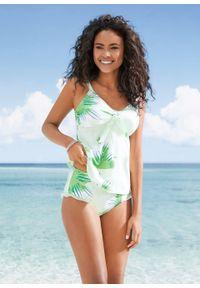 Zielony strój kąpielowy bonprix z aplikacjami, z wyjmowanymi miseczkami