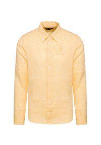 Żółta koszula La Martina button down, na lato