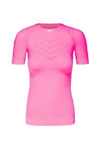 X-Bionic - Koszulka X-BIONIC EFFEKTOR 4.0 RUN. Kolor: różowy. Materiał: skóra. Długość rękawa: krótki rękaw. Sport: bieganie