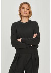 Czarna bluza Calvin Klein Jeans długa, gładkie, casualowa