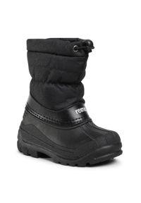Czarne buty zimowe Reima z cholewką