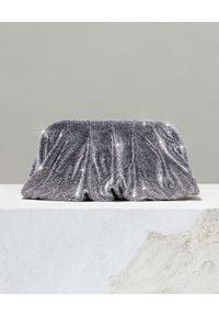 BENEDETTA BRUZZICHES - Torebka z kryształów Venus Large Sexy Lady. Kolor: srebrny. Wzór: aplikacja. Styl: wizytowy