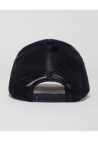 PALM ANGELS - Czapka z wyszywanym logo. Kolor: czarny. Wzór: kolorowy, aplikacja