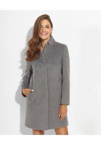 CINZIA ROCCA - Szary płaszcz z dodatkiem kaszmiru. Kolor: szary. Materiał: kaszmir