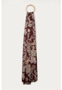 Brązowy szalik Stefanel klasyczny