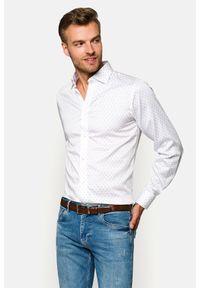 Lancerto - Koszula Biała w Paisley Rosalyn. Okazja: na co dzień. Kolor: biały. Materiał: bawełna, tkanina, jeans. Wzór: paisley. Styl: elegancki, casual