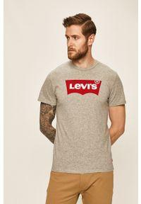 Levi's® - Levi's - T-shirt Graphic Set. Okazja: na spotkanie biznesowe. Kolor: szary. Wzór: nadruk. Styl: biznesowy