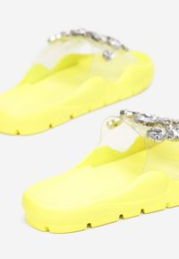 Renee - Żółte Klapki Indra. Kolor: żółty