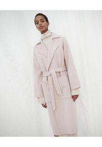NANUSHKA - Płaszcz z domieszką jedwabiu. Kolor: różowy, wielokolorowy, fioletowy. Materiał: jedwab