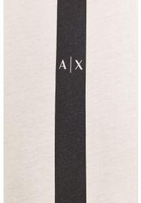 Biały t-shirt Armani Exchange z nadrukiem, na co dzień, casualowy