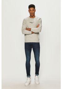 Pepe Jeans - Bluza Elie. Okazja: na co dzień. Kolor: szary. Materiał: dzianina. Wzór: gładki. Styl: casual