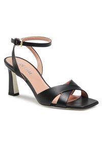 Czarne sandały Pollini