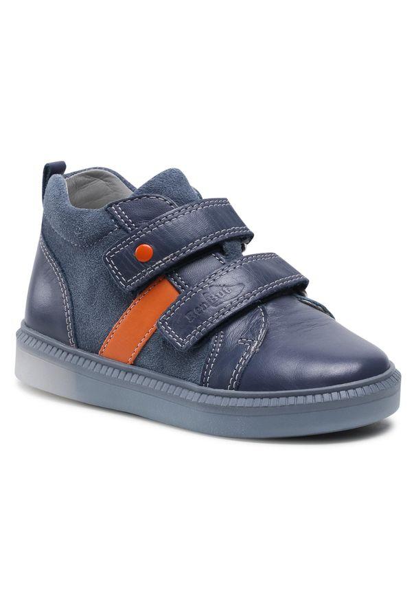RenBut - Trzewiki RENBUT - 23-3356 Led Granat/Pomarańcz. Kolor: niebieski. Materiał: skóra, zamsz. Szerokość cholewki: normalna. Sezon: zima