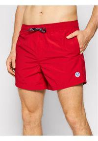 North Sails Szorty kąpielowe Volley 673430 Czerwony Regular Fit. Kolor: czerwony