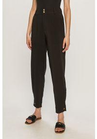 Czarne spodnie materiałowe Jacqueline de Yong na co dzień, casualowe, z podwyższonym stanem