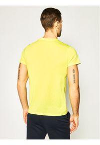 Tommy Sport T-Shirt Colourblock Logo S20S200375 Żółty Regular Fit. Kolor: żółty. Styl: sportowy