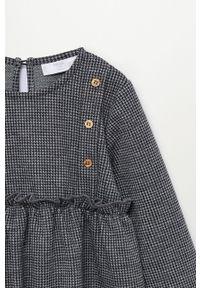 Szara sukienka Mango Kids rozkloszowana, mini