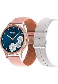 Smartwatch Pacific 18-6 Różowy (PACIFIC 18-6 rg-pink+white). Rodzaj zegarka: smartwatch. Kolor: różowy