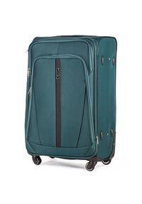 Zielona walizka Solier w kolorowe wzory #1