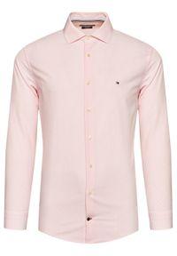 Różowa koszula biznesowa TOMMY HILFIGER