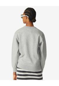 Kenzo - KENZO - Szara bluza z wyszywanym logo. Kolor: szary. Materiał: bawełna. Długość rękawa: długi rękaw. Długość: długie. Wzór: kolorowy, haft, aplikacja. Styl: klasyczny, sportowy