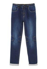 Cellbes Spodnie joggery denim male niebieski 7XL. Kolor: niebieski. Materiał: denim