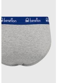 United Colors of Benetton - Slipy. Kolor: szary. Materiał: bawełna, materiał