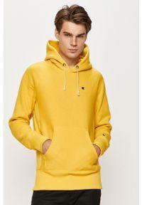 Champion - Bluza. Okazja: na co dzień. Kolor: żółty. Wzór: aplikacja. Styl: casual