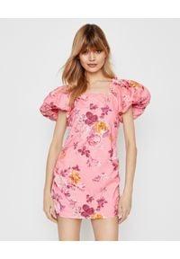 LOVE SHACK FANCY - Sukienka mini Minerva. Kolor: wielokolorowy, różowy, fioletowy. Materiał: sztruks. Wzór: kwiaty. Sezon: wiosna. Długość: mini