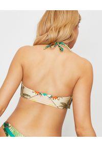 DEL MAAR - Top od bikini z wiązaniem. Kolor: zielony. Materiał: tkanina. Wzór: haft, aplikacja