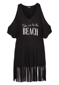 Czarna bluzka bonprix na plażę