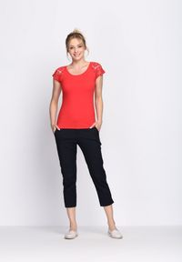 Czerwony t-shirt Born2be