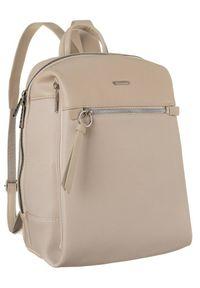 DAVID JONES - Plecak z kieszenią na tablet beżowy David Jones CM6075 BEIGE. Kolor: beżowy. Materiał: skóra ekologiczna