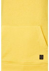 Żółta bluza nierozpinana Blend z kapturem