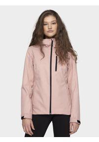 Różowa kurtka przeciwdeszczowa 4f na co dzień, z kapturem