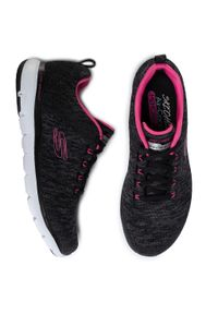 Czarne buty do fitnessu skechers z cholewką, na co dzień